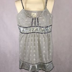 Free People Sz 2 tank top beaded!